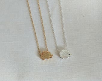 Hedgehog Necklace |  Hedgehog Jewelry | Pendant Necklace | Animal Jewelry | FREE GIFT WRAP