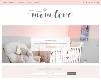 Blogger Template Responsive - Premade Blogger Templates - Blog Theme Design - Mommy Blogger Template - Lifestyle - Mom - Family - Blogging