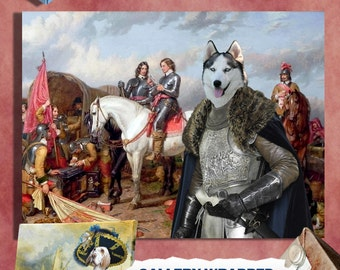 Siberian Husky Art Print Vintage Dog Painting Husky Custom Dog Portrait Husky Dog Art Deco Siberian Husky Lover Gift Husky