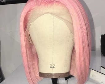 Light Pink Lace Frontal BoB Wig Unit