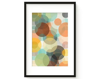 BOKEH no.38 - Giclee Print - Mid Century Contemporary Modern Abstract Modernist Art