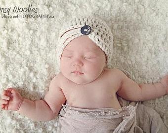 """Crochet Baby Hat Pattern: """"Buttercream""""  Crochet Beanie, Baby Crochet"""
