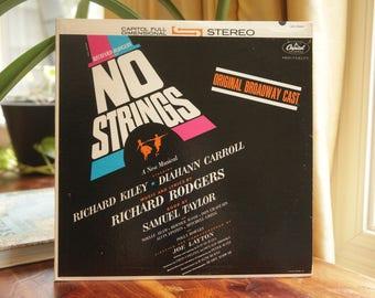No Strings Record, 1962 Vintage LP Album, Original Broadway Cast - Richard Kiley & Diahann Carroll, 1960s Musical Soundtrack Gift