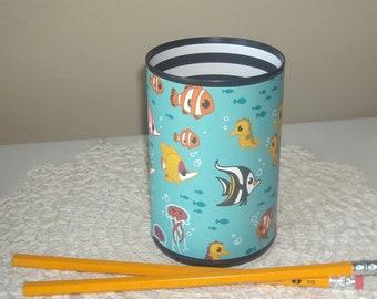 Ocean Fish Desk Accessories / Cute Fish Pencil Holder / Pencil Cup / Desk Accessories for Kids / Cute Dorm Decor   - 1144