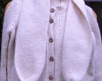 Vintage SWEATER CHILD OUTFIT, sweater, scarf, hat, hand knit, sweetest ever, 1940 s, ooak