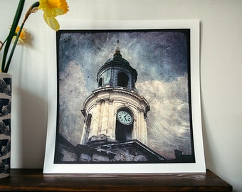 The belfry of the Town Hall - reindeer - 30x30cm - signed and numbered print