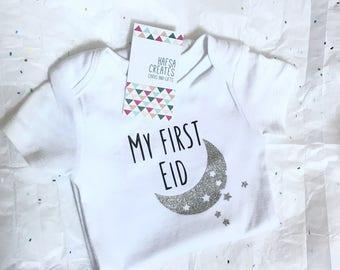 My first Eid bodysuit for children, Eid Mubarak gift