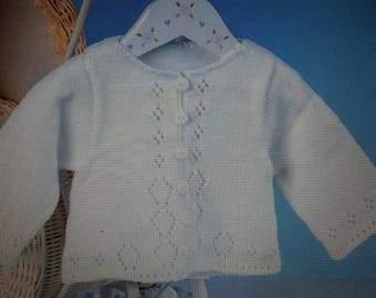 Handmade 7 baby VEST very CHIC with holes holes
