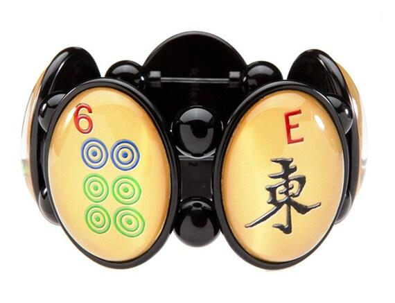 Mah Jong Five-Cameo Stretch Bracelet