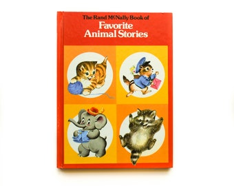 The Rand McNally Book of Favorite Animal Stories | 1980 | The Little Mailman of Bayberry Lane | Forest Babies | Mommy Cat and her Kittens