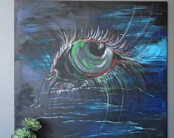 "Eye in the Sky 48""x48"" Original Acrylic Painting"