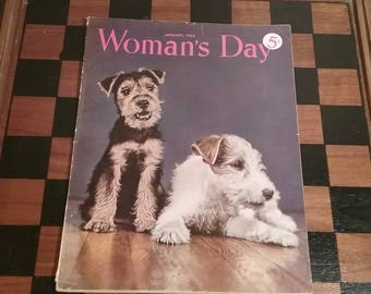 Woman's Day Magazine January 1950 issue, brought to you by UsefulRetro!
