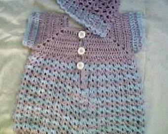0024 Baby Boys Blue Kisses Pattern Set,Baby Boy Crochet,Blue Kisses Romper Pattern, Newborn to 03 Months Pattern by CarussDesignZ
