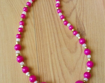 Sweetheart Pink Summer Necklace