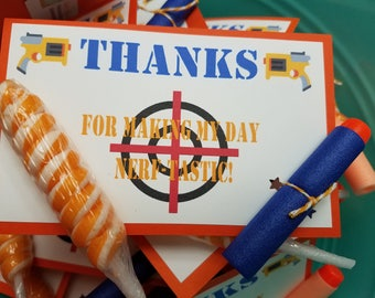 Nerf Party Favors, Nerf Birthday Favors, Nerf Themed Party Favors