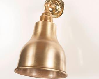 Alvin Raw Brass Shade Wall Light