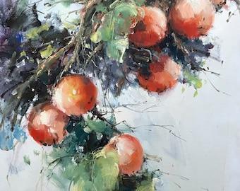"""Yuanjian Wang 202 27x54""""  Apple tree"""