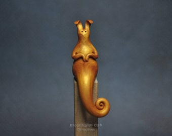Bunny Figurine, Bunny, Rabbit Figurine, Animal Figurine, Fantasy Bunny, Collectible Figurine, Handmade