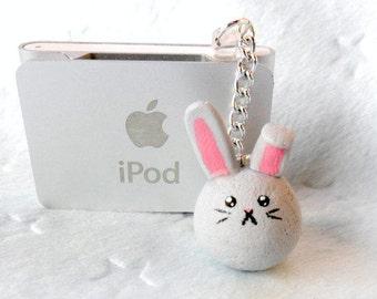 Dust Bunny Dust Plug, For iPhone or iPod, Cute, Kawaii :D