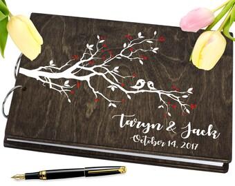 Personalised Wedding Guest Book Rustic Guestbook Custom Guest Book Wood Guest book Wooden Guestbook