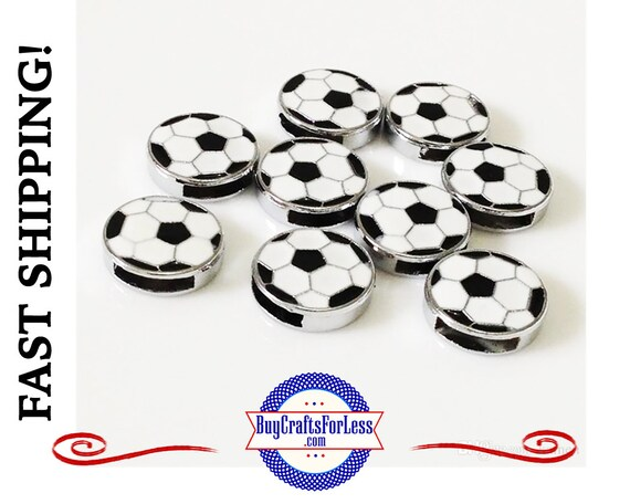 SOCCER Ball for 8mm SLIDE Bracelets, Key Rings, Collars +FREE Shipping & Discounts*