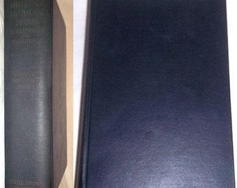 Vintage 1925 Book REPRESENTATIVE CONTINENTAL DRAMAS - Revolutionary & Transitional - Montrose J. Moses Hardcover