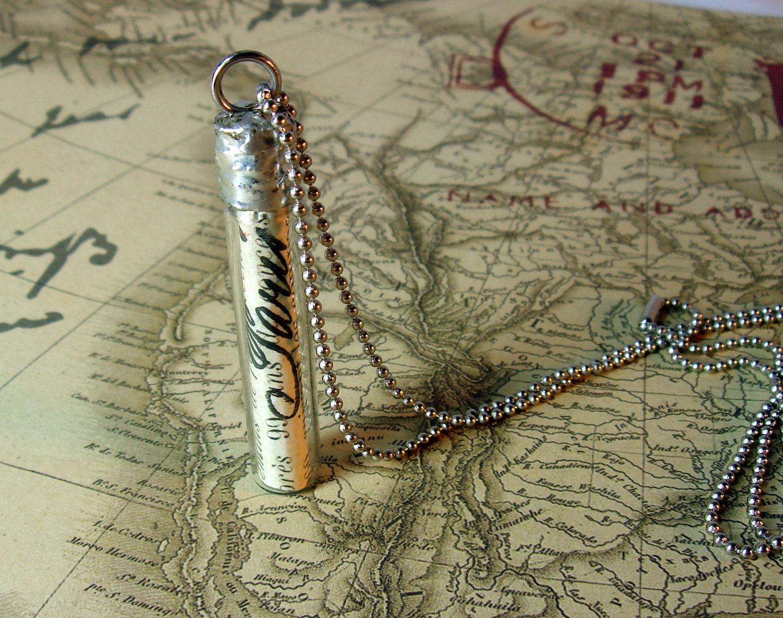 Message in a Bottle Paris Necklace Pendant
