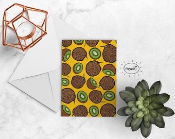 Kiwi Fruit Card Kiwi Downloadable Cute Kiwi Card Kiwi Instant Download Kiwi Gift Kiwi Printable Kiwi Printable Card Kiwi Digital Download