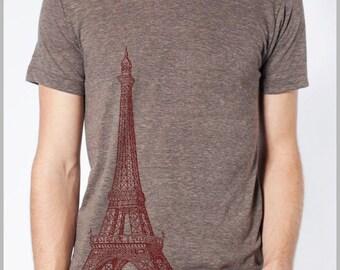 Eiffel Tower Paris - Mens' Women's Fashion T shirt - American Apparel Tee Tshirt  9 COLORS IR2