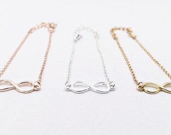 4x Infinity Bracelet gold, Infinity, Infinity, Bridesmaid Gift, Gift, Love, Eternity