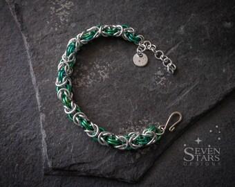 Niobium and Aluminium Byzantine Bracelets
