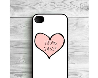 Phone Case 100% Sassy Tumblr For iPhone 4/4S, iPhone 5/5S, iPhone 5c, iPhone 6, iPhone 7, Galaxy S4, S5, S6, S6 EDGE, Note 3 & Note 4