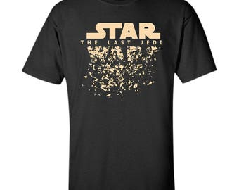 Star Wars Last Jedi Disintegrated Logo Graphic Custom Ultra Cotton T-Shirt