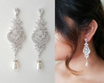 Rose Gold Earrings Wedding Earrings Rose Gold Bridal