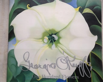 Georgia O'Keefe-One Hundred Flowers,Callaway/Knoph-1987-1st Edition -Box