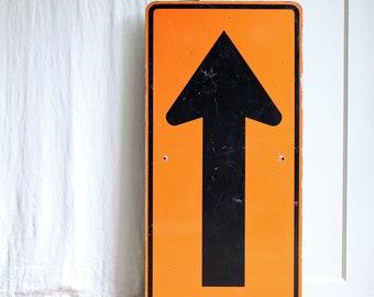ON SALE  Giant Floor Sized Vintage Industrial Arrow Sign