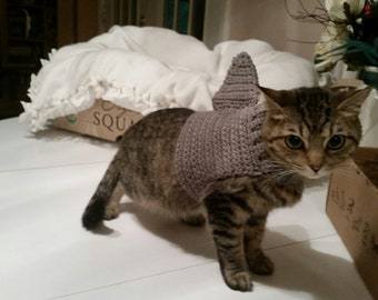 Crochet Cat Shark Sweater Costume