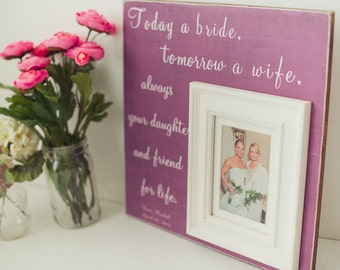 Mother of the Bride Gift Parents Thank You Gift Wedding Gift Personalized Picture Frame