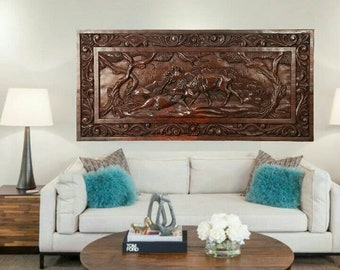 HOME DECOR ROSEWOOD the battle of stags
