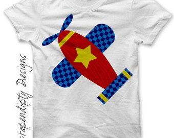Airplane Iron on Transfer - Kids Iron on Shirt PDF / Airplane Shirt Design / Baby Boy Clothes / Airplane Printable / Fabric Transfer IT127