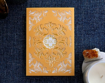 Stunning Victorian Extravagance Wedding Invitation, Without Foil - IWP16143-D