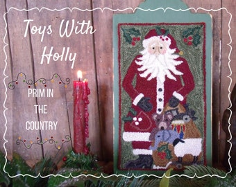Toys With Holly Punch Needle Pattern