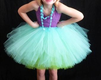 The Olivia - Ballet Style Mid length Reversible Tutu Skirt - Knee Length Tulle Skirt - Made to Order - Many Color Choices - Flower girl