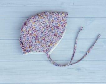 Purple Floral Sun bonnet
