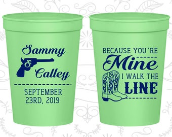Personalized Cups, Wedding Cups, Plastic Cups, Stadium Cups, Plastic Wedding Cups, Wedding Favor Cups, Wedding Favors (C474)