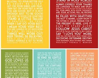 Words of the Prophets - Subway Art - Instant Download