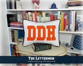 The Lettermen Large Applique Monogram Pillow Cover - 12 x 16