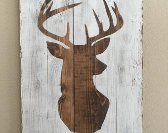 Planked Deer Silhouette II