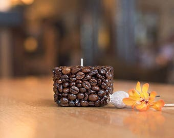 Coffee Bean Tealight Holder - Small Square, Candle Holder, Home Décor