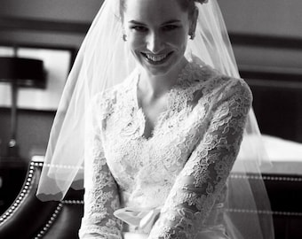 Custom Wedding Gown - Alencon Lace Bridal Ensemble